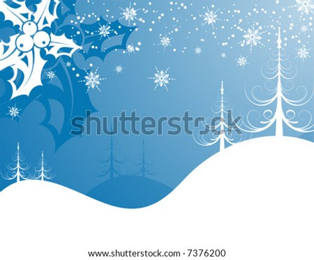 Abstract christmas background with mistletoe, element for design, vector illustration
