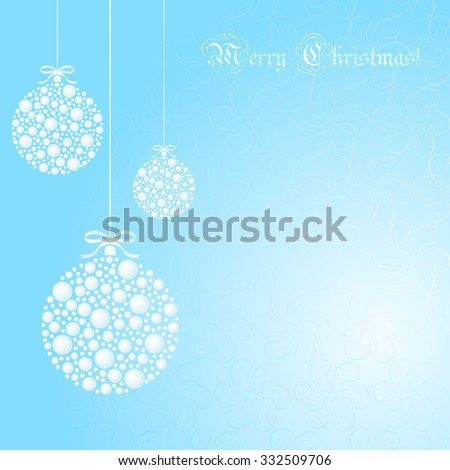 Abstract Christmas ball cut from paper on  background.  - stock vector