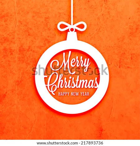 Abstract Christmas Ball. Merry Christmas and Happy New Year 2015. For Holiday Greeting Card, Poster or Flyer Design. - stock vector