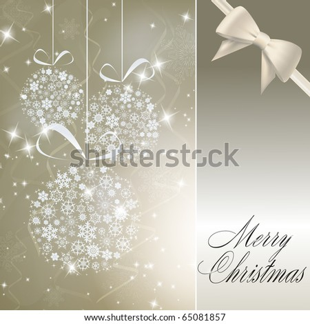 Abstract christmas balls made of white snowflakes. Vector eps10 illustration - stock vector
