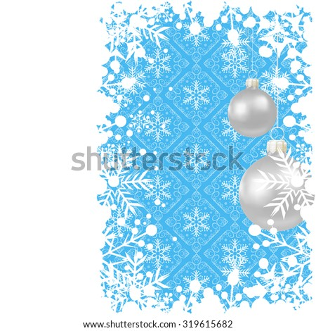 Abstract, Christmas card, Evening balls, Christmas baubles, Christmas day, Xmas lights, Holiday background, Blue, Vector - stock vector