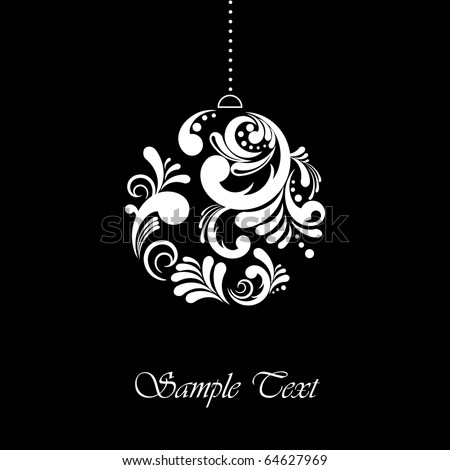 Abstract Christmas card with editable text - stock vector