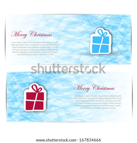 Abstract Christmas card with snowflakes background. Vector Illustration.