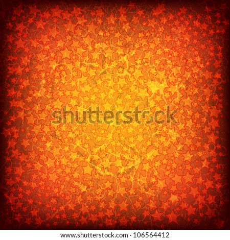 abstract christmas grunge background with red stars