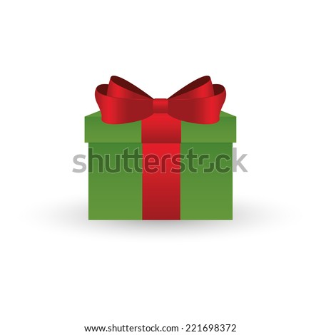 Abstract christmas object on a white background