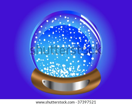 Abstract christmas snow globe - vector illustration
