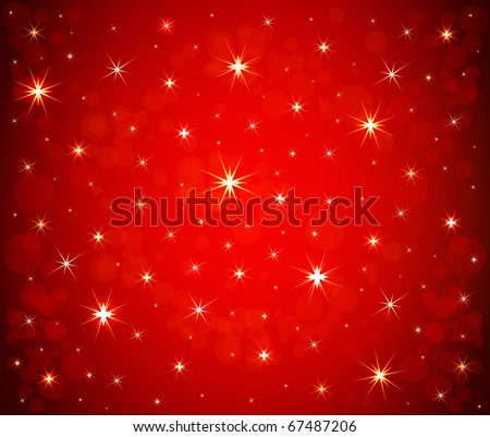 Abstract Christmas stars background vector - stock vector
