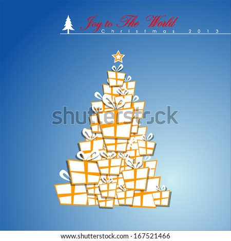 Abstract Christmas Tree, Vector Illustration, EPS 10  - stock vector