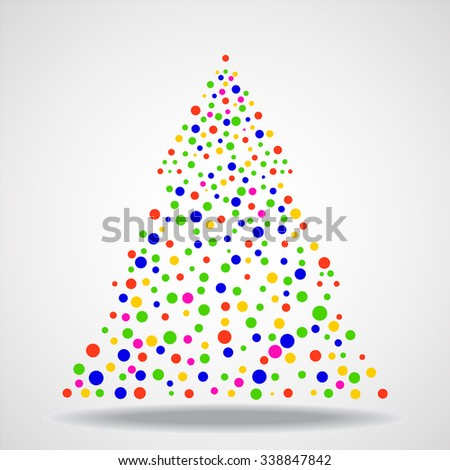 Abstract christmas tree. Vector illustration. Eps 10