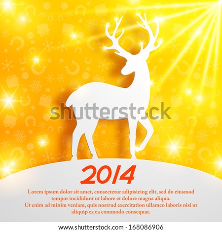 abstract Christmas vector background. Horse Year. Vector Illustration, eps10, contains transparencies. - stock vector