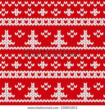 Knit Pattern Christmas Vector : pixaromas