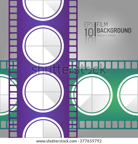 Abstract Cinema Background Design. Vector Elements. Minimal Isolated Film Illustration. EPS10 - stock vector