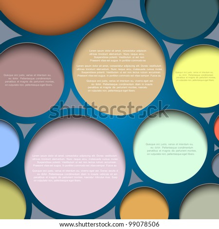 Abstract circle background with place for your text - stock vector