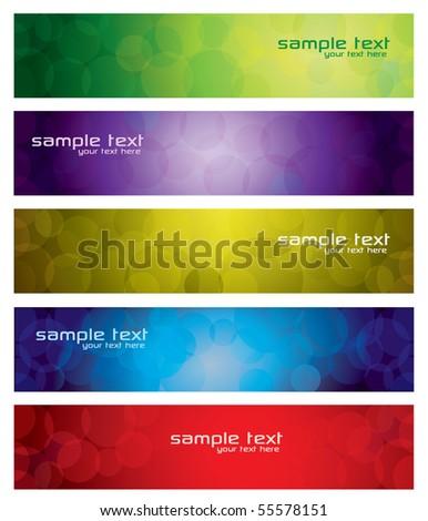 Abstract Circle Banner Set - stock vector