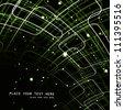 abstract circle bright green line technology vector design - stock vector