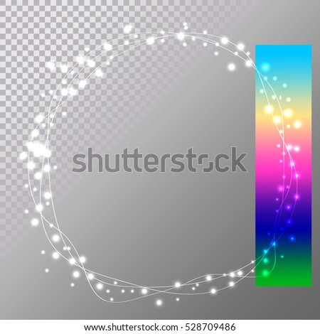 abstract circle christmas lights easy to edit, wreath for xmas holiday greeting cards design. vector illustration eps10