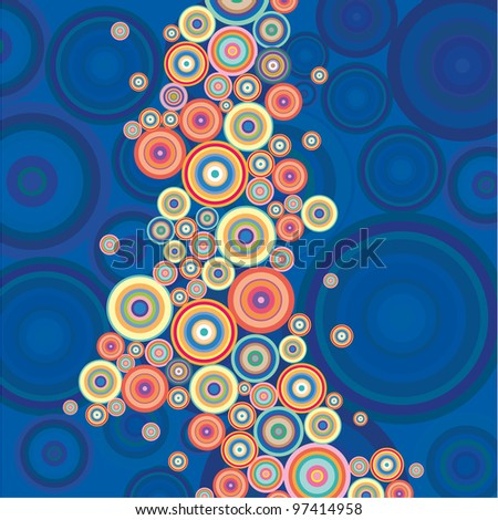 Abstract Circle colorful background. Good for some retro '60 situation - stock vector
