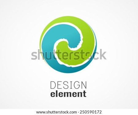 Abstract circle design element - stock vector