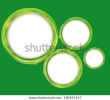 Abstract circle frame vector illustration