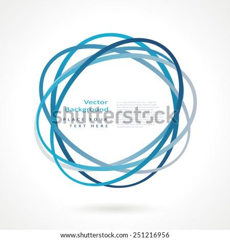 Abstract circle frame. Vector logo design template - stock vector