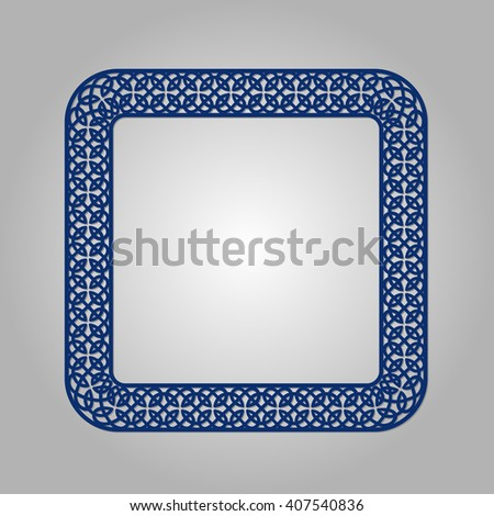 Abstract circle frame with swirls, vector ornament, vintage frame. May be used for lasercutting. Laser cut vector frame. Lazercut frame.