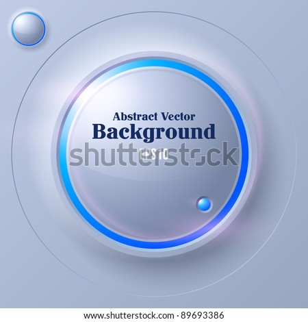 Abstract Circle Futuristic Background - stock vector