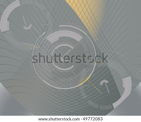 Abstract Circle/Gears Illustration - stock vector