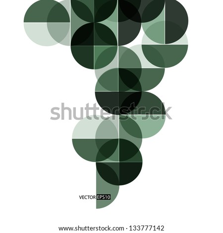 Abstract circle geometrical design. - stock vector