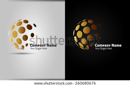 Abstract circle halftone dots. Logo design elements - vector template - isolated corporate logo. easy to use  - stock vector