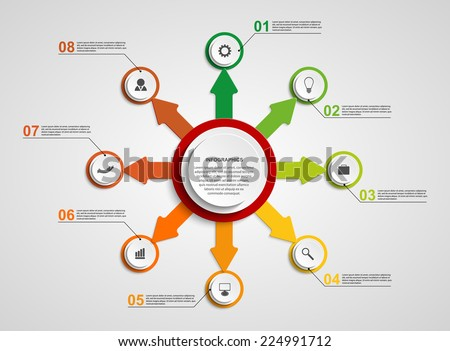 Abstract circle infographic design template. - stock vector