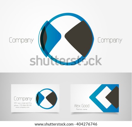 Abstract circle logo design template - stock vector