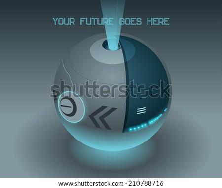 Abstract circle Machine ball - stock vector