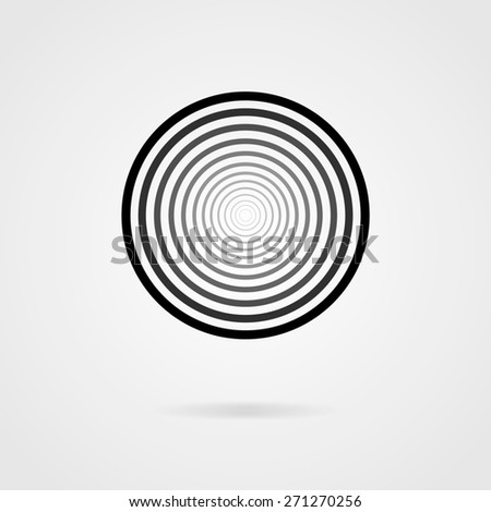 Abstract circle shape, vector design element - stock vector