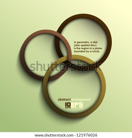 abstract circles (coffee theme) - stock vector