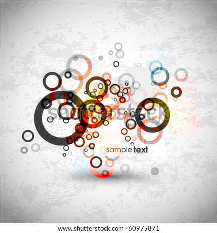 Abstract circles design. Vector background - stock vector