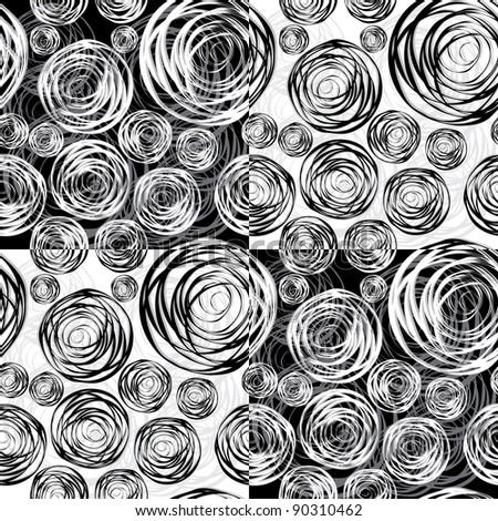 Abstract circles seamless vector background - stock vector