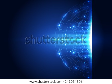 Abstract circuit technology concept background. Vector illustration. - stock vector