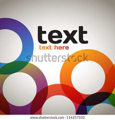 Abstract Circular Background - stock vector