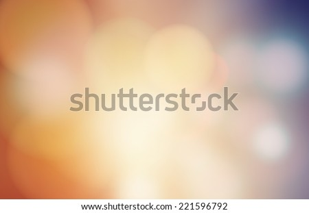 Abstract circular bokeh blur background  - stock vector