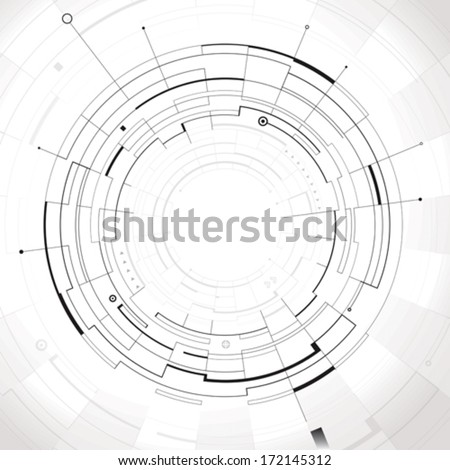 Abstract circular structure technology background. - stock vector