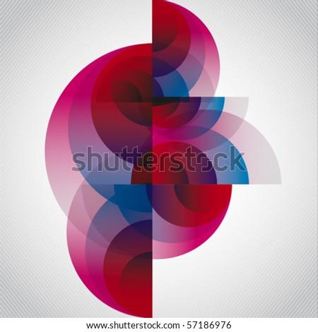Abstract circular vector - stock vector