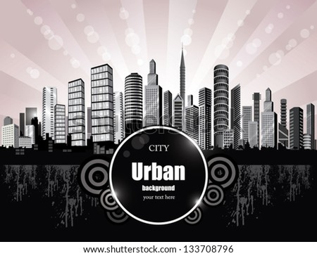Abstract City Background. - stock vector
