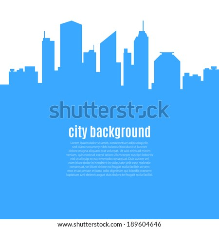 Abstract city background. Vector illustration - stock vector