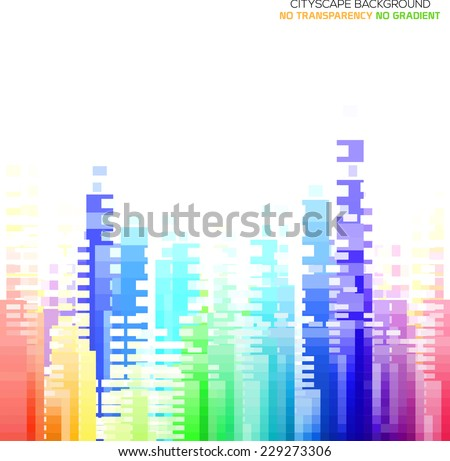 Abstract city scape illustration - stock vector