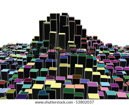 abstract cityscape-like vector - stock vector