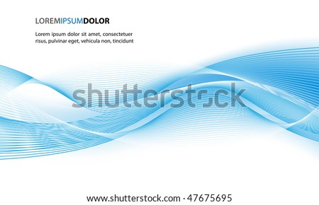 Abstract Clean Vector Wave Background - stock vector