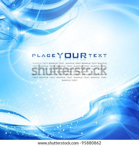 Abstract clear cold water. Vector - stock vector