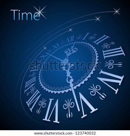 Abstract clock background - conceptual vector - stock vector