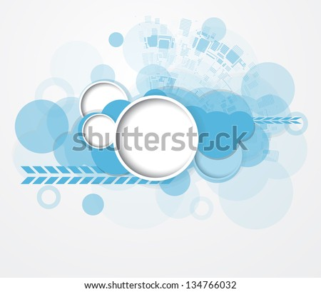abstract cloud circuit computer technology business background - stock vector