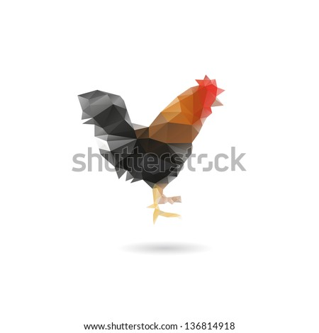 Abstract cock isolated on a white backgrounds